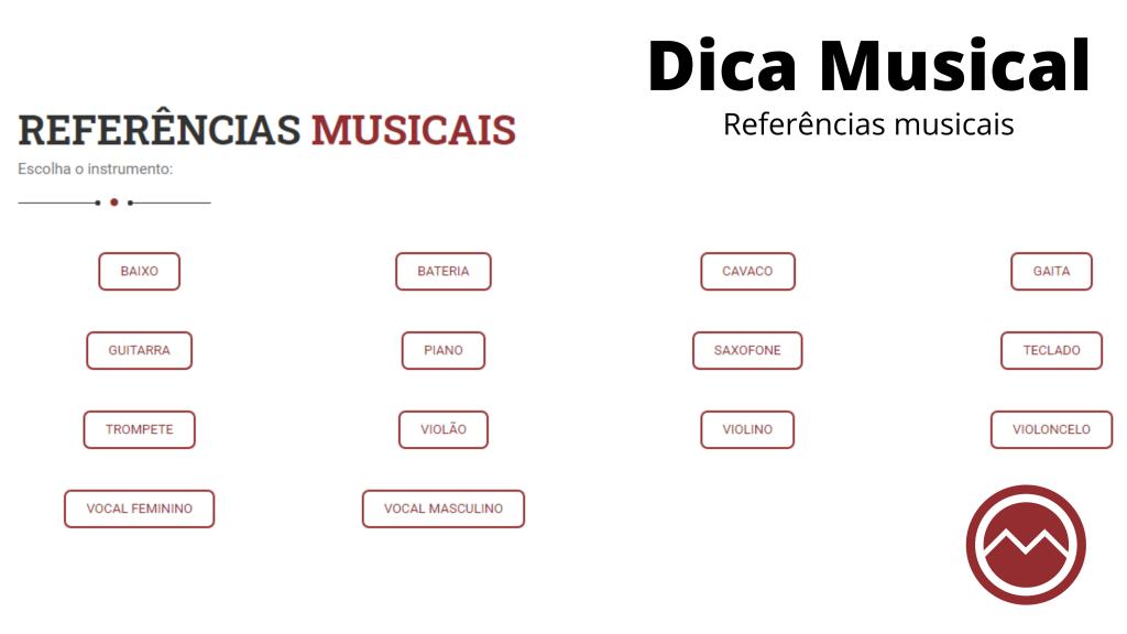 referencias musicais, musicas para ouvir
