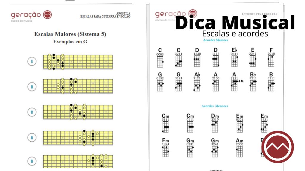 escalas e acordes de musica