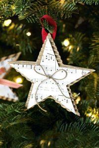 estrela para colocar na arvore de natal de partitura