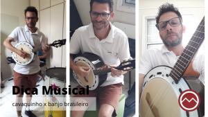 professor de musica tocando banjo