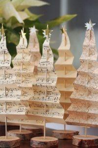 arvore de natal de partitura com dobradura